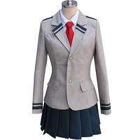 Anime Boku no Hero Academia School Uniform Suit My Hero Academia Midoriya Izuku Bakugou Katsuki Uraraka Ochako Cosplay Costumes
