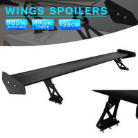 New Universal Adjustable Lightweight Aluminum Rear Car Sedan GT Wing Racing Spoiler Black D10
