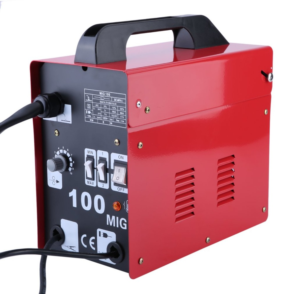 MIG 100 High Performance Gas Shielded Welding Machine 50HZ 240V Professional Stable Efficient Mig Weldering Equipment UK Plug