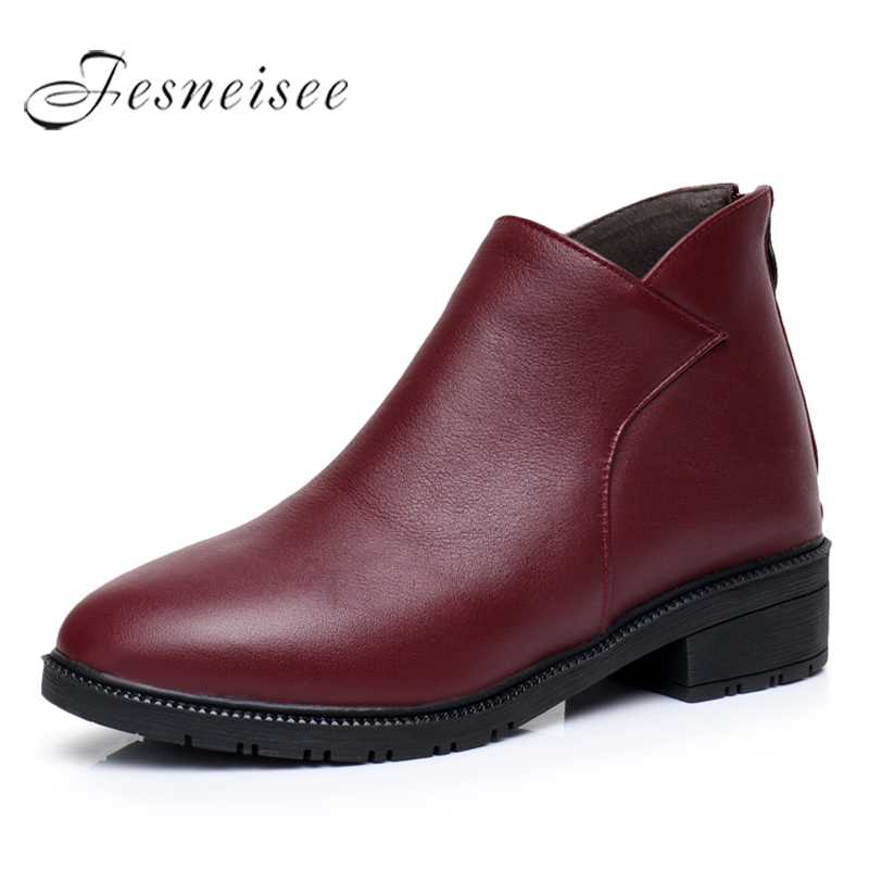 2017 Autumn Winter Women Shoes Genuine Leather Women Boots Square Heels Ankle Boots Woman Shoes fashion Boots Size 34-43 M3.5 maria p cantu global gender inequalities