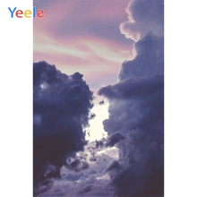 Yeele Landscape Photocall Clouds Lights Sunset Glow Photography Backdrops Personalized Photographic Backgrounds For Photo Studio