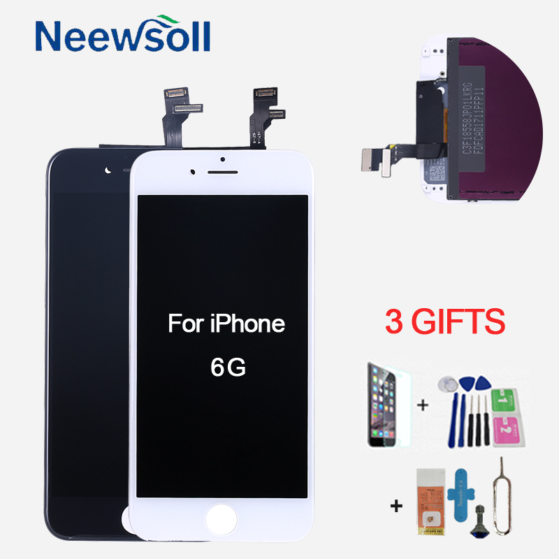 Digitizer Replacement Assembly for iPhone 6 LCD Display Touch Screen Black White Pantalla Panel 100% Tested
