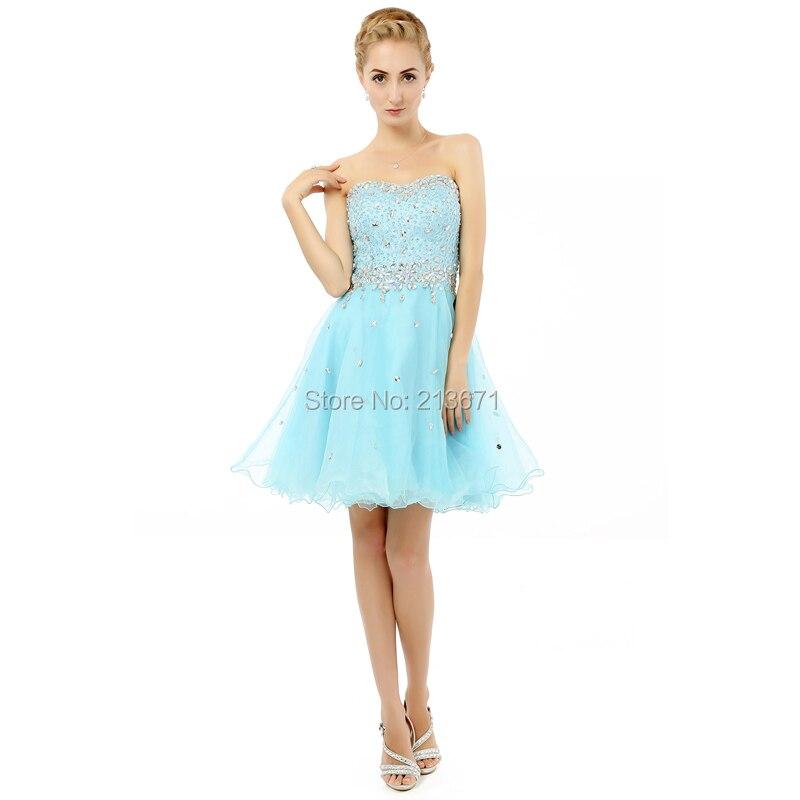 Baijinbai Slatka kratka večernja haljina 208 Til Crystal Beaded - Haljina za posebne prigode - Foto 6