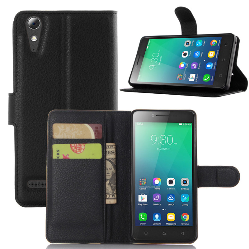 A6000 Plus Case Lychee Print PU Leather Case For Lenovo A6000 Plus Flip Stand Wallet Phone Shell Back Cover With Card Holder