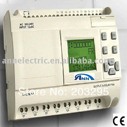 Mini PLC   AF-20MR- D with LCD,12-24VDC,12 points DC input 8 points (with analog input) relay output wecon 24 points plc compatible with q series lx3vp 1212mt d