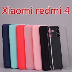 Xiaomi redmi 4 housse Silicone TPU étui pour Xiaomi redmi 4 (2GB 16 GB) Ultra mince cristal et solide couleurs doux