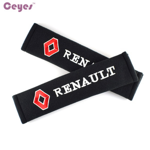 Image 2 - Car Styling Seat Belt Cover Case For Renault Megane 2 Duster Logan Captur Clio Laguna 3 Fluence Cotton Accessories Car Styling