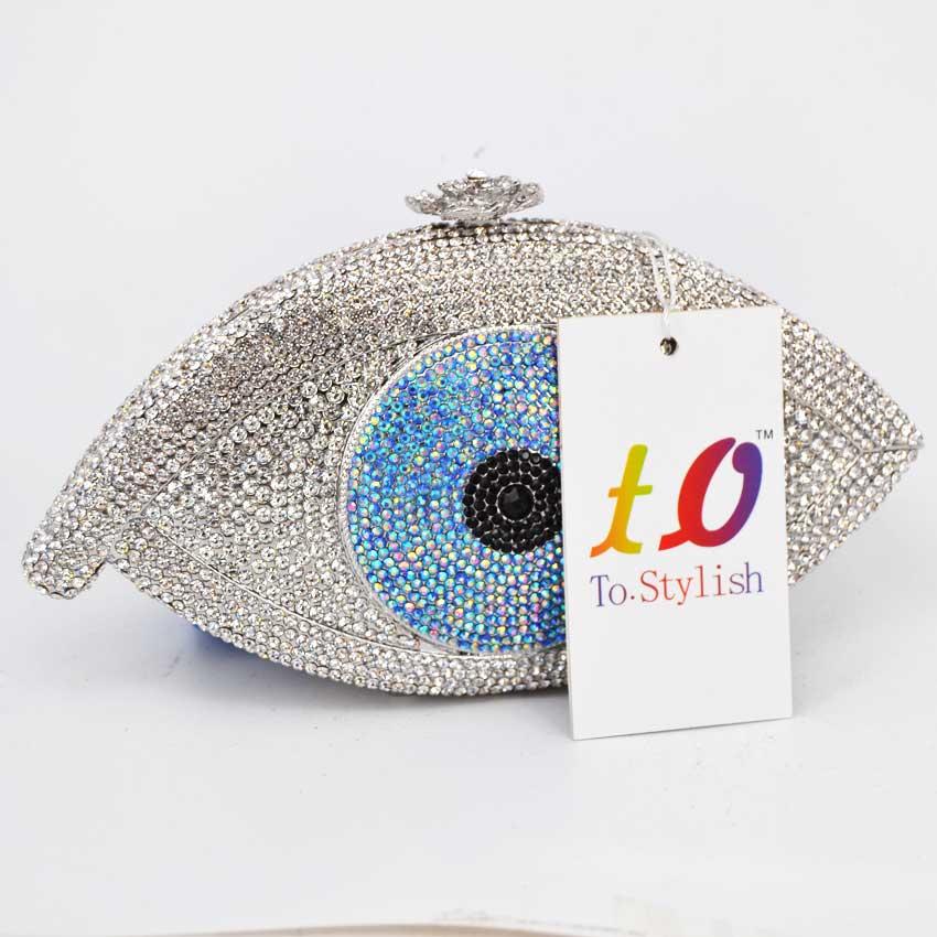 gold evil eye мешок женщин сцепления сумка серебряная сумочка femme барсетки мешок роскошный кристалл день сцепления bling партия кошелек sc023