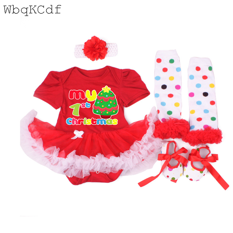 9b6b6587c Baby Girl Clothes 1st Christmas Baby Bodysuit Dress Infant Dress&Clothes  Santa Claus Sets Bebes Christening Gown