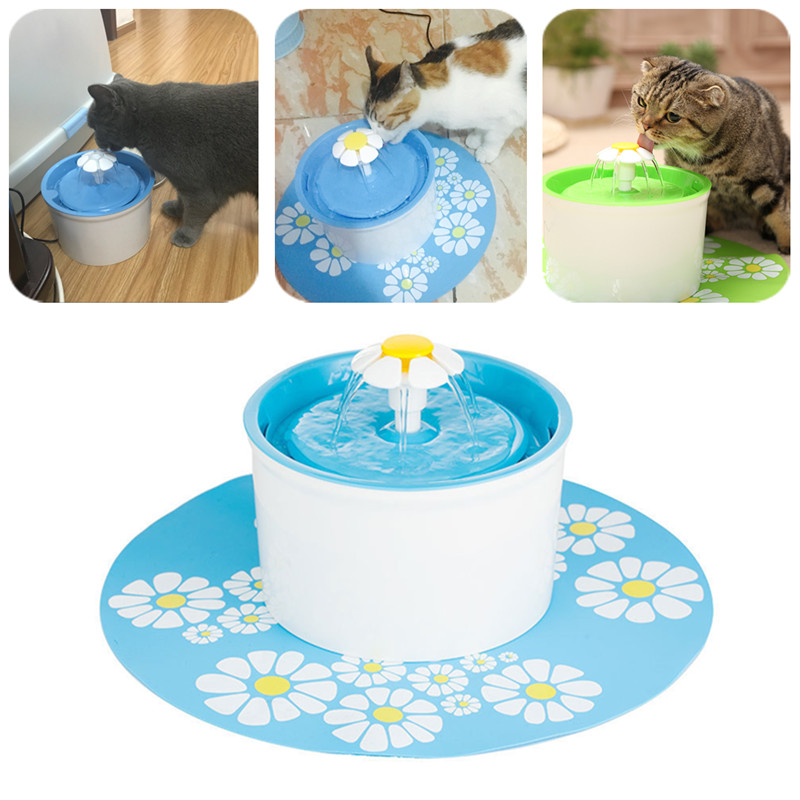 Flower Style Automatic Cat Water Fountain Drinking Bowl Pet Water Dispenser Feeder Filter Drinking Fountain For Pet Cat Dog Bird ...