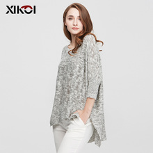 XIKOI 2017 New Spring Sweater Women Pullovers Casual Fashion Ladies Clothing O-Neck Flat Knitted Autumn Woman Sweaters Clothes