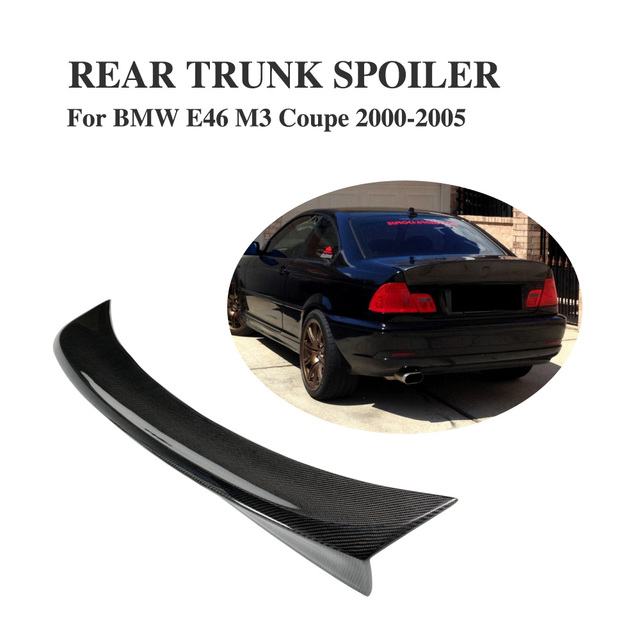Carbon Fiber Rear Racing Spoiler Trunk Boot Wing For BMW 3 Series E46 2Door Coupe M3 2000-2005