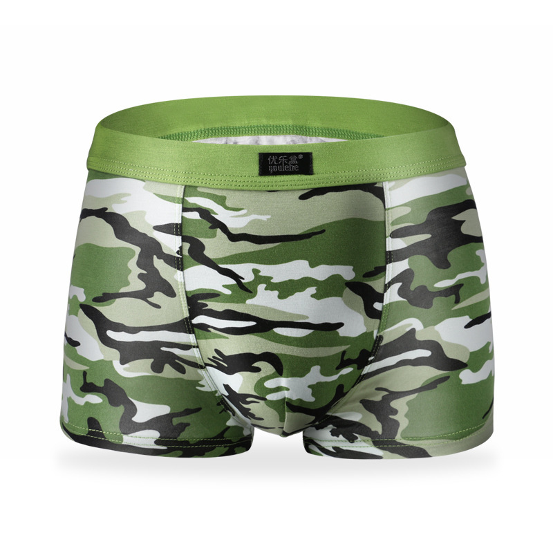 Bamboo Underwear Boxer-Shorts Military Camouflage-Printed Men's Brands