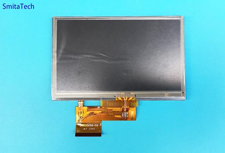 67Pin 4.3 Inch AT043TN24V.4  LCD Display+touch Screen Digitizer for Garmin Nuvi 2495 2495Lmt GPS Repair parts garmin автонавигатор nuvi 67 lmt russia