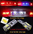 2 pcs t10 w5w 194 168 canbus samsung chip de led da placa de licença Lâmpada de luz Para Peugeot 206 307 2008 308 508 3008