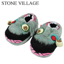 STONE VILLAGE Free Shipping 1Pair Plush Zombie Slippers / Ravenous Zombie Warm Slippers Funny Home Shoes Cartoon Slippers ST-231