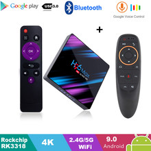 Google Play tv box android 9,0 H96 MAX Rockchip 4G 16GB 32GB 64GB Android tv box 2,4/5,0G WiFi Bluetooth 4,0 4K 3D Android box(China)