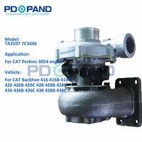 TA3107 auto 2674A397 montagem do compressor turbocharger para a CATERPILLAR 416 426 428 436 438 kit carregador turbo do motor Perkins 3054|Turbocompressor| |  -