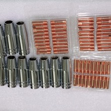 70PCS CO2 Mig Mag welding torch aircooled MB 15AK swan neck contact tip holder gas nozzle M6*25MM 0.8 1.0