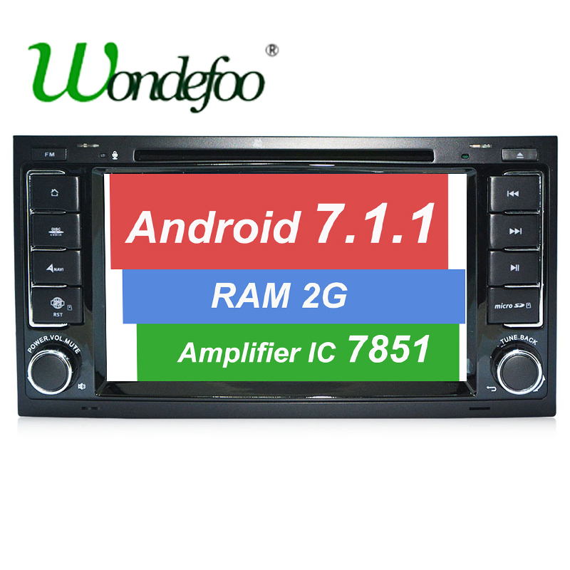 imágenes para Android 7.1 DEL COCHE DVD GPS Para VW Volkswagen Touareg T5 Transporter Multivan reproductor de dvd de radio de la pantalla táctil RAM 1G/2G ROM 16G/32G