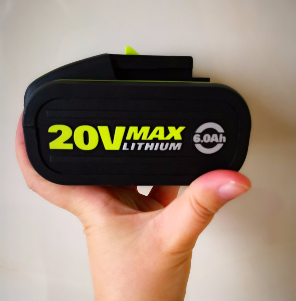Best 20 V Batteria 6000 mah Li-Ion per Strumento di Potere Worx 3553, 3567,3563 con indicatore LEDBest 20 V Batteria 6000 mah Li-Ion per Strumento di Potere Worx 3553, 3567,3563 con indicatore LED