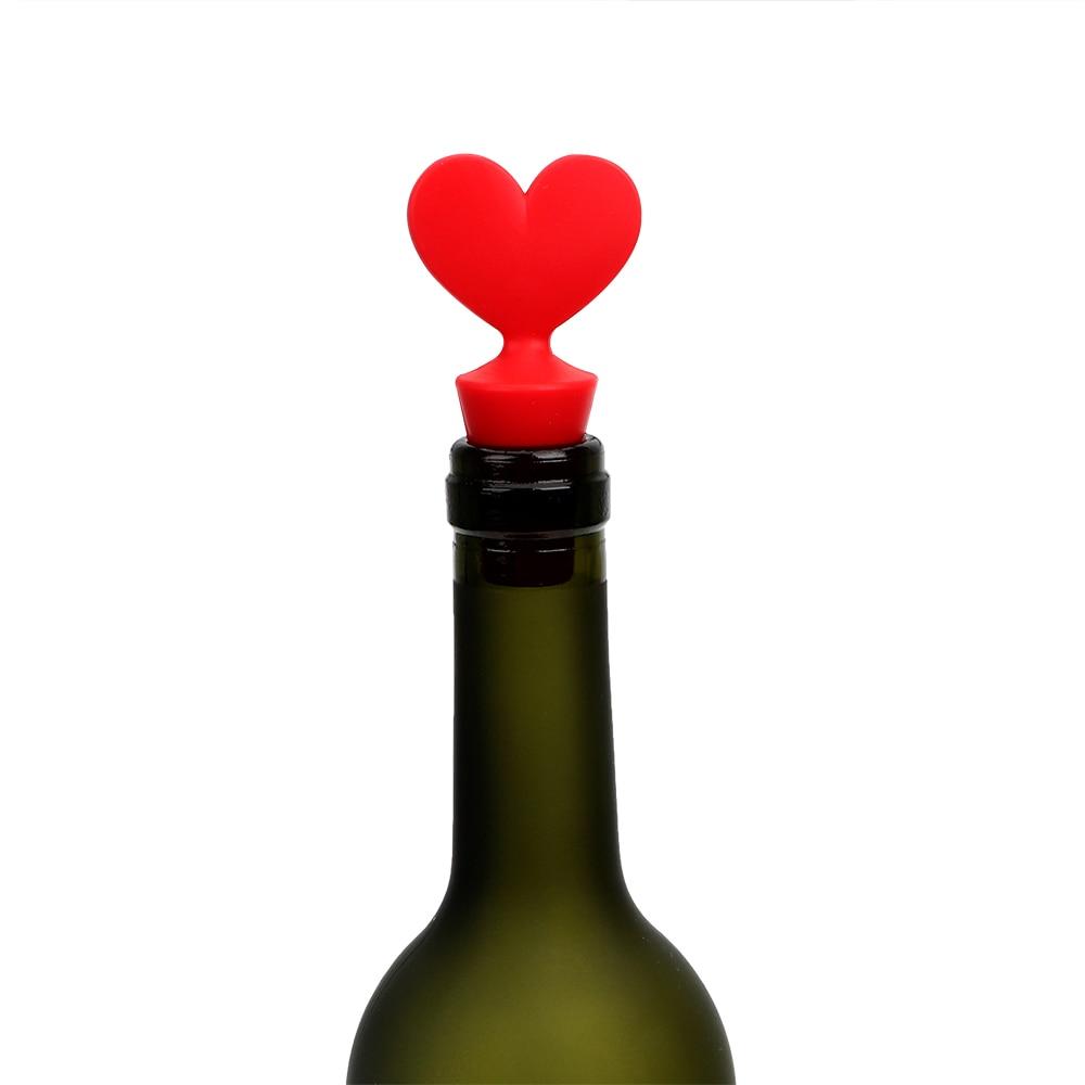 HILIFE Silicone Poker Shaped Wine Stoppers Leak Free Wine Beer Bottle Cork Stopper Plug Wine Bottle Sealer Cap Bar Tools 3