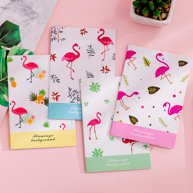 1 Pcs Portable Flamingo Notebook Cute cactus fruit <font><b>Note</b></font> <font><b>Book</b></font> Diary Day Planner <font><b>Kawaii</b></font> Journal Stationery gift School Supplies image