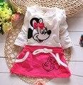 Vestido De Festa Longo Promoción de los Bebés Minnie Vestido de Moda de Nueva Marca de Verano 2016 Partido de la Princesa Niña Ropa de Niños Ropa