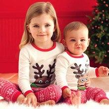 Baby Girls Boys Christmas Print Outfits Set