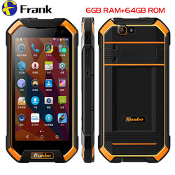 Original Runbo F1 Plus IP67 Waterproof Mobile Phone 6GB 64GB Android 7.0 Shockproof Cellphone NFC Smartphone 5.5 Inch 4G Phone