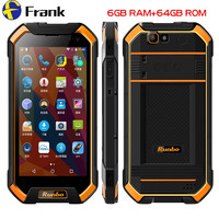 Original Runbo F1 Plus IP67 Waterproof Mobile Phone 6GB 64GB Android 7 0 Shockproof Cellphone NFC
