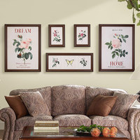 Minimalist Photo Frame Set Living Room Sofa Background Wall Creative New Bedroom Animal Plant Decorative Wall Painting Design