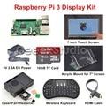 Original Raspberry Pi 3 16 GB Pantalla Starter Kit con 7 pulgadas 1024*600 de la Pantalla Táctil + 5 V 2.5A EU/EE.UU./REINO UNIDO/AU fuente de Alimentación