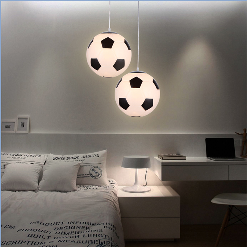 LED Pendentif Lumières Luminaria Football/Basket-Ball Lampe Kids'Room Linving Rining Chambre E27 110 v 220 v Pour La Décoration