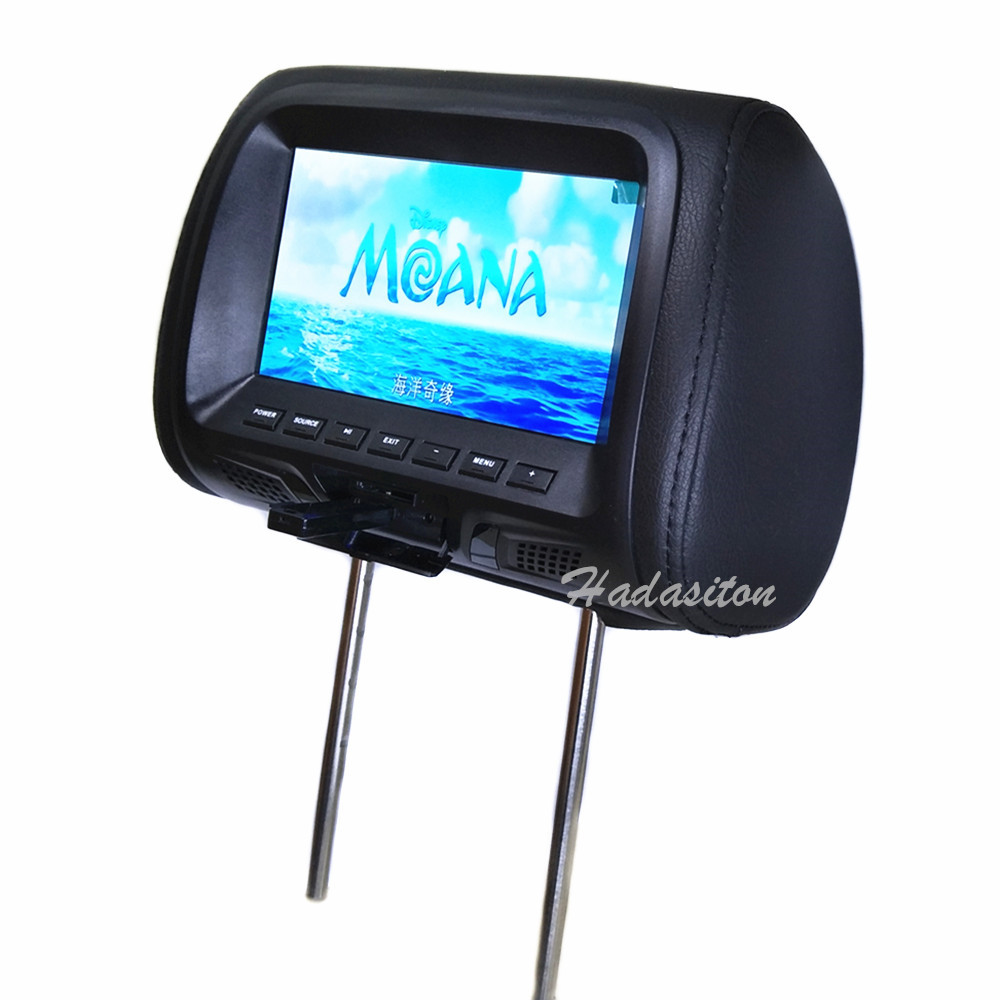 """2PCS Universal 7""""  screen Car monitor MP5 player Headrest monitor Support AV/USB/SD input/FM/built in Speaker-in Car Monitors from Automobiles & Motorcycles    1"""