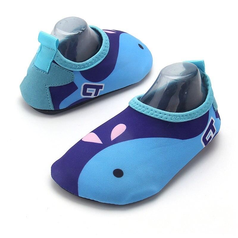 ce11c48f5 Kids Quick Drying Swim Water Shoes Boy Girl Casual Footwear Barefoot  LightWeight Aqua Socks Beach Pool Cartoon Children Slippers