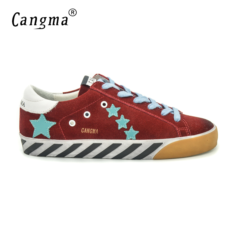 CANGMA Italy Deluxe Brand Men Superstar Shoes Luxury New Genuine Leather Male Casual Red Handmade Shoes Black Bottom Esportivo cangma original italy deluxe brand men golden shoes women handmade silver genuine leather goose shoes scarpa stella sapato 2017