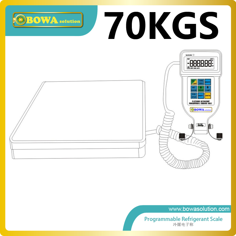 70Kgs programmalble electronic refrigerant scale for water chiller and heat pump products ves 50b quantitative refrigerant liquid refrigerant said quantitative electronic fluoride electronic scales