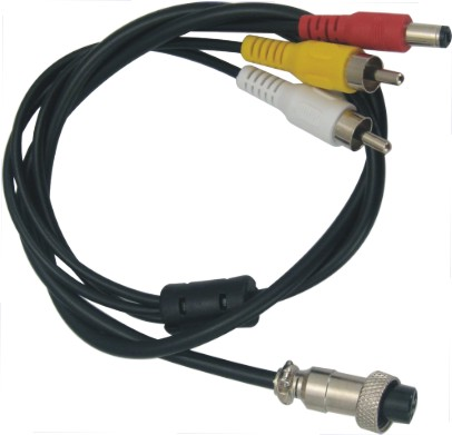 4PIN M12 Aviation Connector To AV+Power Cable, 4pcs To A Lot