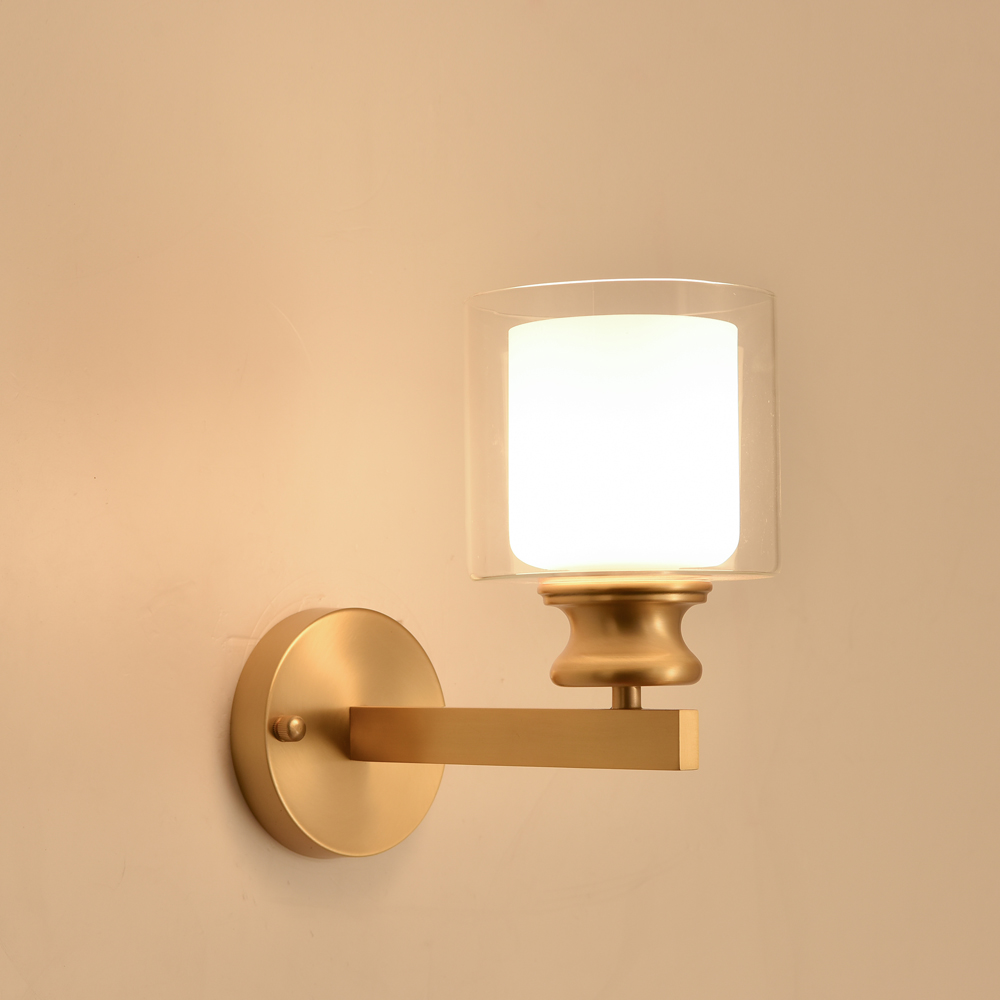 Us 66 34 30 Off Minimalist Copper Br Wall Light Lamp Led Bedside Bedroom Study Reading Sconce Modern Simple Gold In