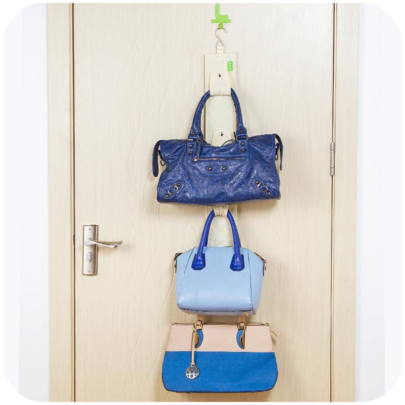 Superb Hanging Handbag Closet Organizer Purse Storage 6 Hook Door Collection Hanger  Hat Bag Strap Belt Clothes Rack Organizer Buckle In Storage Holders U0026 Racks  ...