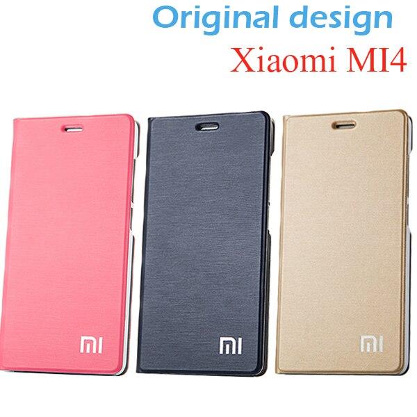 Kích thước ban đầu Xiaomi Mi4 Trường Hợp Che Đứng 100% PU Leather Case đối với Xiaomi Mi4 M4 Bìa Điện Thoại Trường Hợp Lật Bìa đối Xiaomi Mi4 M4