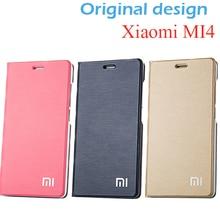 Original größe Xiaomi Mi4 Fallabdeckung Stehen 100% PU Ledertasche für Xiaomi Mi4 M4 Abdeckung Telefon Fall Flip Cover für Xiaomi Mi4 M4