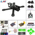 Carbon fiber DIY mini drone FPV 220 220mm quadcopter frame for QAV-R 220+F3 Flight Controller emax 2204 2300KV Motor