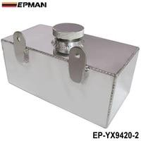 Epman 2l aluminium universele gepolijst ruitensproeiers fles intercooler spray tank met cap kit track auto ep-yx9420-2