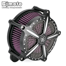BJMOTO Motorcycle Touring model Road King CNC Air Cleaner Intake Filter Kit For Harley Road Glide 2008-2016 Motocross Air Filter цена и фото