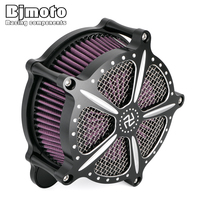 BJMOTO Motorcycle Touring model Road King CNC Air Cleaner Intake Filter Kit For Harley Road Glide 2008 2016 Motocross Air Filter