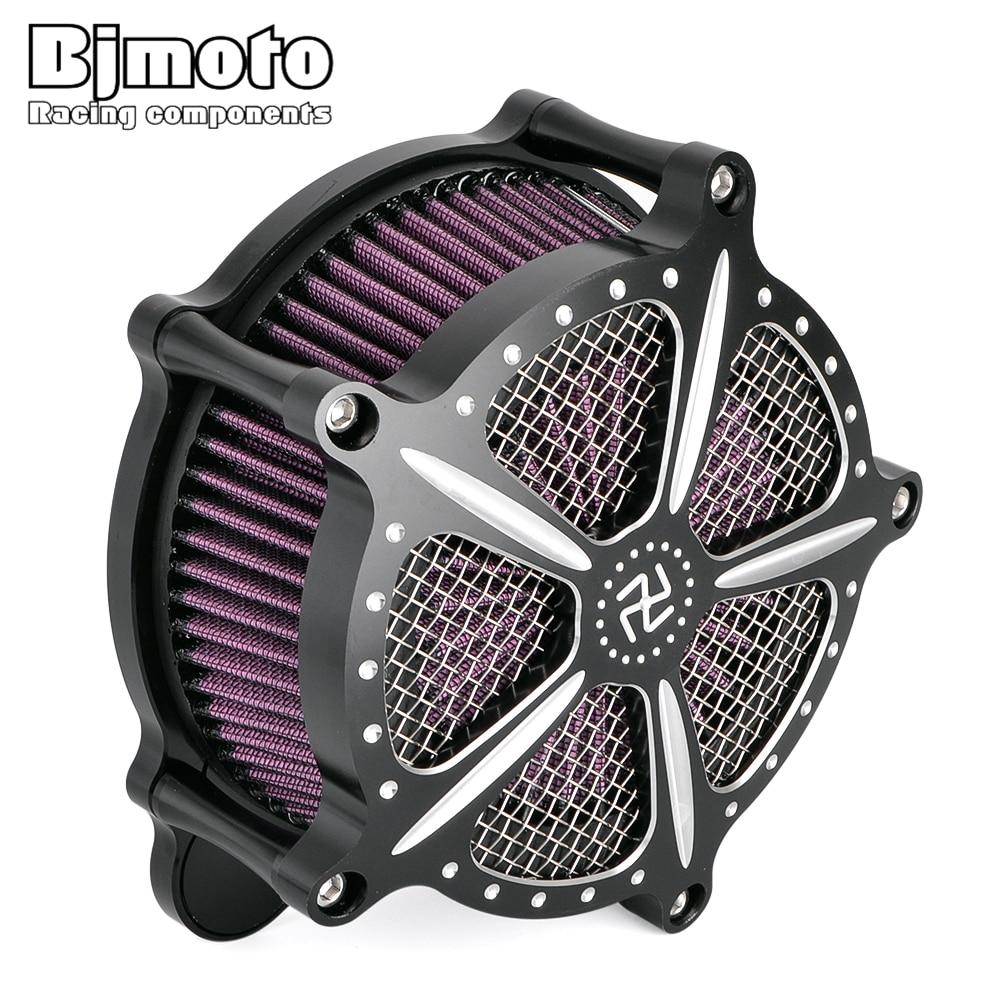 BJMOTO moto Touring modèle route roi CNC filtre à Air filtre d'admission Kit pour Harley Road Glide 2008-2016 Motocross filtre à Air