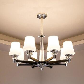 LED moderne lustre salon lampes suspendues luminaires en cristal chambre éclairage luminaires à la maison en alliage de Zinc lampes suspendues