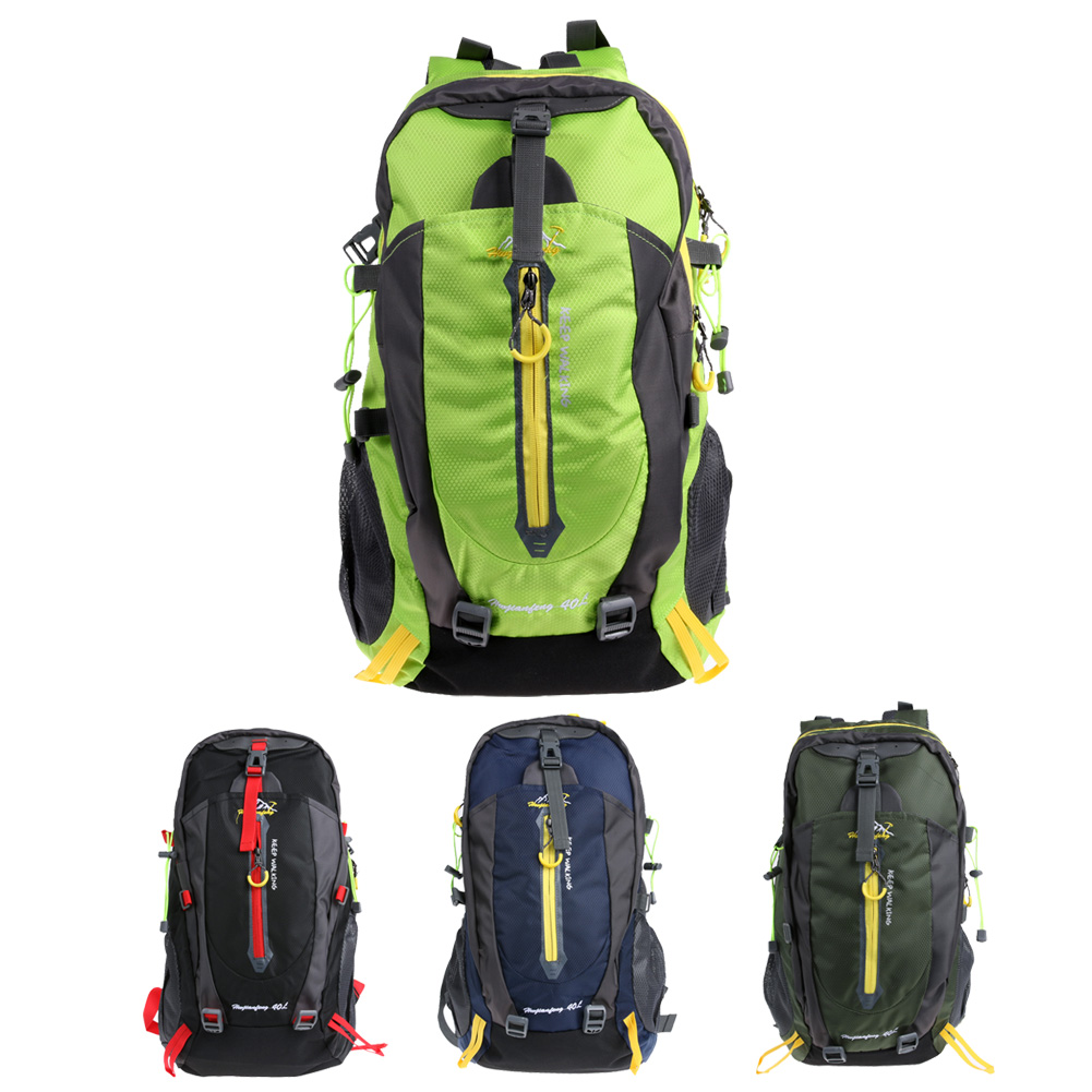 40L Unisex Waterproof Nylon Ultra Lightweight Outdoor Sports Riding Hiking Camping Climbing Travel Backpack Outdoor Bags 4 Color